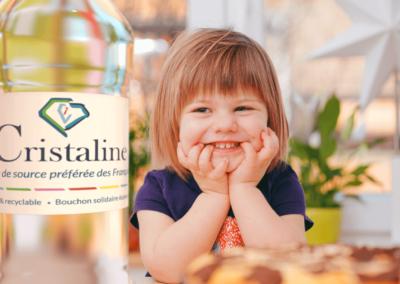 Refonte de logo avec révision de la charte graphique en adéquation avec le site web de l'eau Cristaline